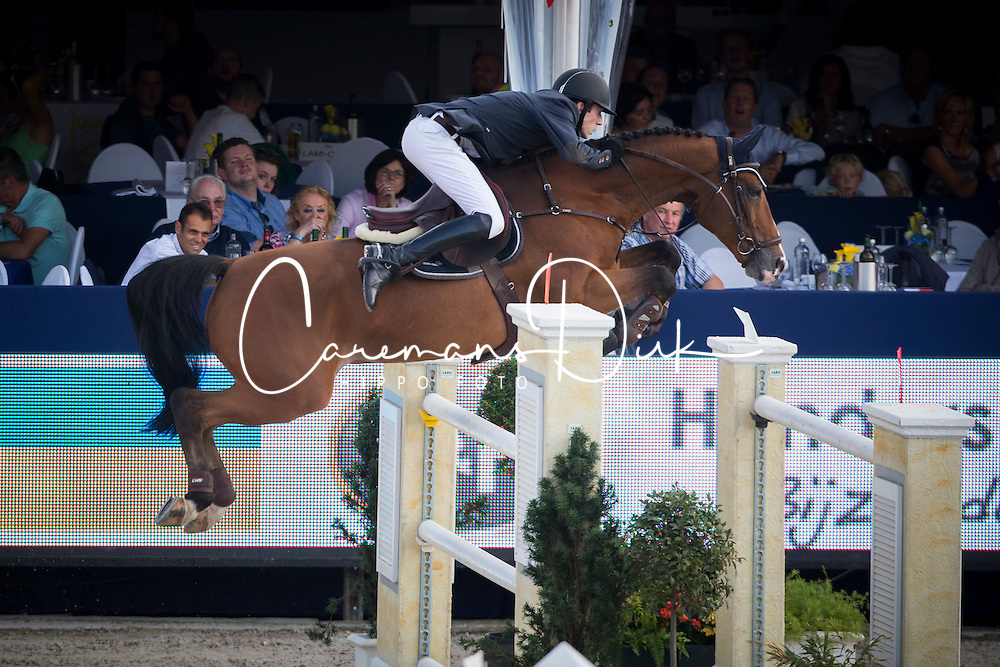Devos Wouter (BEL) - Tonik Hero <br /> Belgian Championship<br /> FEI World Breeding Jumping Championships for Young Horses - Lanaken 2014<br /> &copy; Dirk Caremans