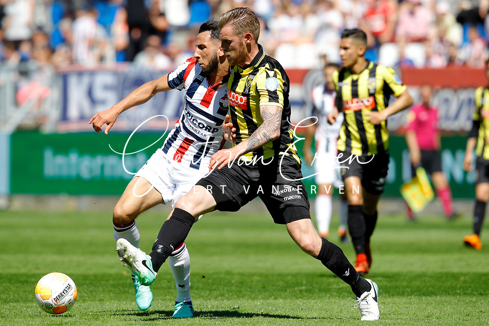 (L-R) *Ismail Azzaoui* of Willem II, *Maikel van der Werff* of Vitesse