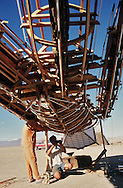 Working on the Burningman..The Burningman festival on the playa near Black Rock in NE Nevada.