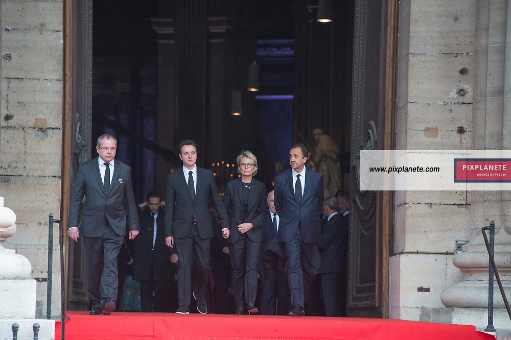 Claude Chirac_Martin Rey Chirac_Frederic Salat-Baroux Obsèques de Jacques Chirac Lundi 30 Septembre 2019 église Saint Sulpice Paris