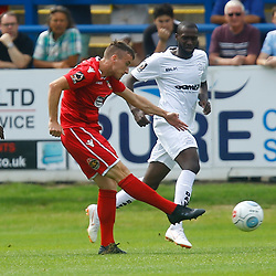 during the opening National League match between Dover Athletic and Wrexham FC at Crabble Stadium, Kent on 04 August 2018. Photo by Matt Bristow.