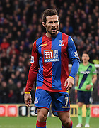 Goalscorer Yohan Cabaye in action during the Barclays Premier League match between Crystal Palace and Southampton at Selhurst Park, London, England on 12 December 2015. Photo by Michael Hulf.