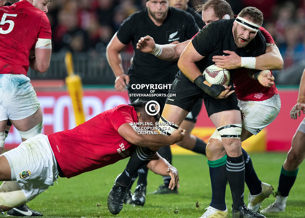 Kieran Read (c) during game 7 of the British and Irish Lions 2017 Tour of New Zealand, the first Test match between  The All Blacks and British and Irish Lions, Eden Park, Auckland, Saturday 24th June 2017<br /> (Photo by Kevin Booth Steve Haag Sports)<br /> <br /> Images for social media must have consent from Steve Haag