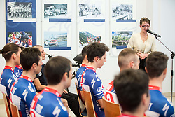 Sonja Gole during press conference of KK Adria Mobil Cycling Club before new season 2018, on February 22, 2018 in Novo mesto, Slovenia. Photo by Vid Ponikvar / Sportida