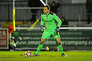 Ryan Clarke (31) of Eastleigh during the The FA Cup match between Eastleigh and Swindon Town at Arena Stadium, Eastleigh, United Kingdom on 4 November 2016. Photo by Graham Hunt.
