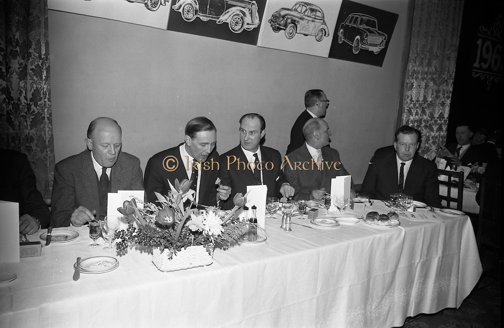 07/02/1963<br /> 02/07/1963<br /> 07 February 1963<br /> Brittain Dublin Ltd. Golden Jubilee reception and Dinner at the Hibernian Hotel, Dublin. Picture shows some of the attendees during the meal.