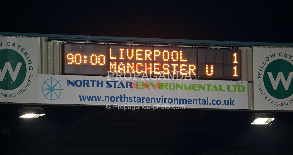 BIRKENHEAD, ENGLAND - Friday, March 11, 2016: Liverpool draw 1-1 against Manchester United during the Under-21 FA Premier League match at Prenton Park. (Pic by David Rawcliffe/Propaganda)
