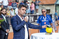 July 29, 2018 - BÅ'Stad, Sverige - 180729 Konferencier Patrick Ekwall under finalen i Swedish Padel Open den 29 juli 2018 i BÅ'stad  (Credit Image: © Christian …Rnberg/Bildbyran via ZUMA Press)