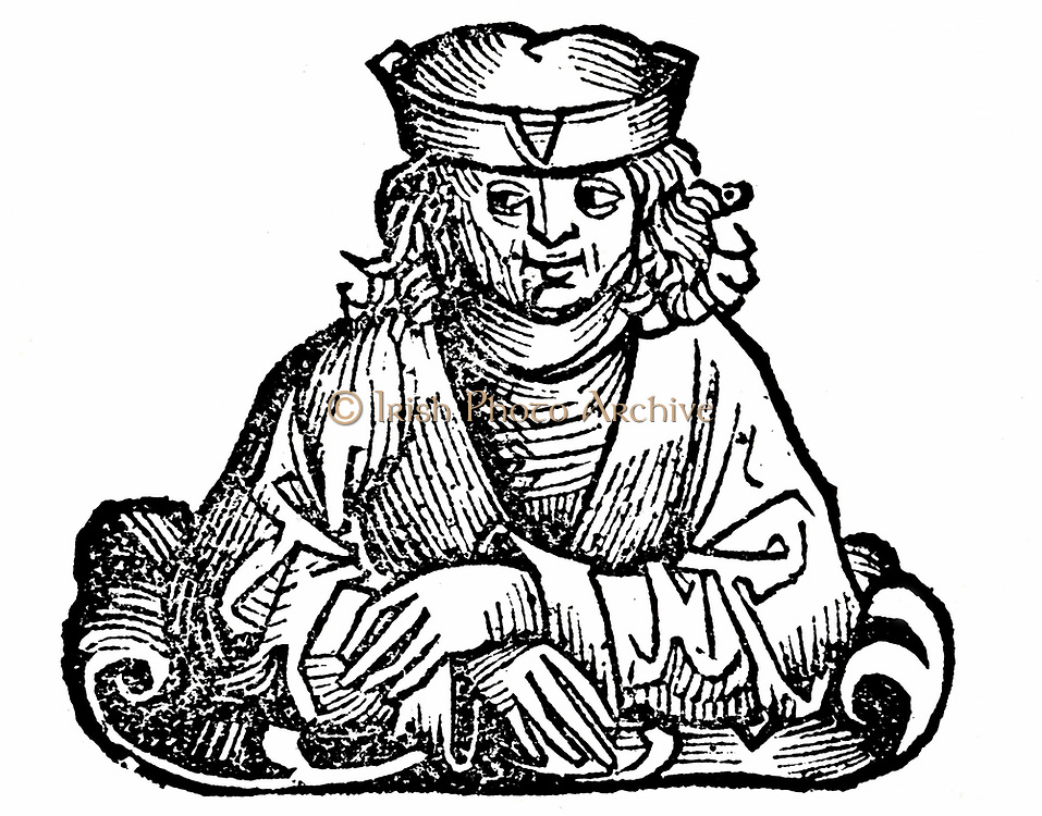 Aristides the Just (c530-c468 BC) Ancient Greek (Athenian) soldier and statesman. Woodcut from Hartmann Schedel 'Liber chronicarum mundi' (Nuremberg Chronicle) Nuremberg, 1493.