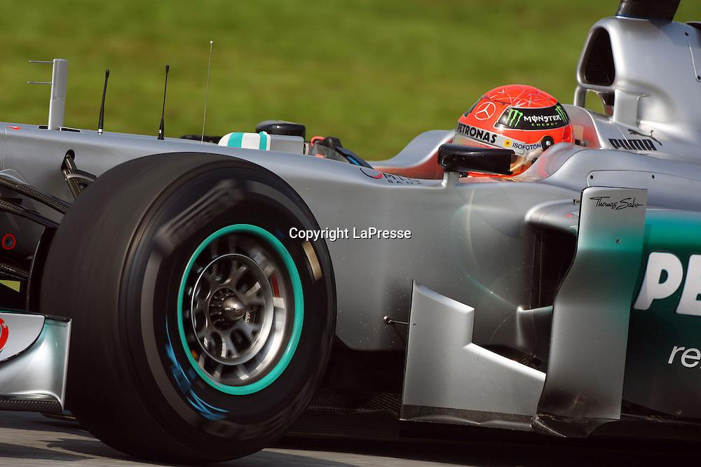 &copy; Photo4 / LaPresse<br /> 23/3/2012 Sepang<br /> Malaysian Grand Prix, Sepang 2012<br /> In the pic: Michael Schumacher (GER), Mercedes AMG Petronas F1 Team