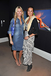 Left to right, MELISSA ODABASH and YASMIN LE BON at a lunch to announce the partnership between Creme de la Mer and BLUE Marine Foundation held at Sotheby's 34-35 New Bond Street, London on 18th May 2012.