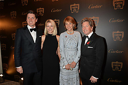 Left to right, JAKE WARREN, ZOE WARREN, JOHN & LADY CAROLYN WARREN at the 26th Cartier Racing Awards held at The Dorchester, Park Lane, London on 8th November 2016.