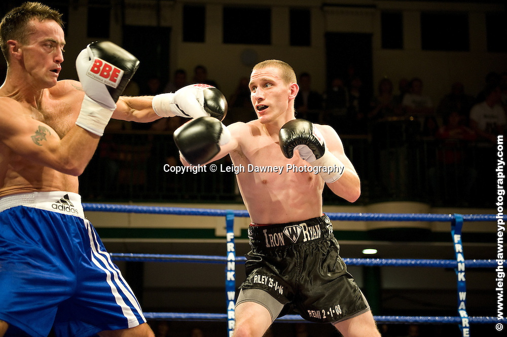 Ryan Walsh defeats Michael O'Gara at York Hall, Bethnal Green 9th ocotber 2009. Frank Warren Promotions.Credit: ©Leigh Dawney Photography