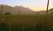 Crisp August morning In Jackson Hole after the 1st cutting of hay in 2011