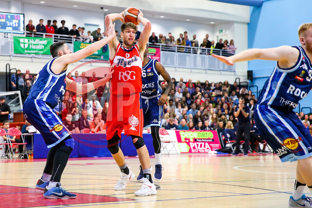 Mike Vigor of Bristol Flyers - Rogan/JMP - 11/11/2017 - BASKETBALL - SGS Wise Arena - Bristol, England. - Bristol Flyers v Glasgow Rocks - British Basketball League.