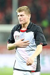 20.11.2010,  BayArena, Leverkusen, GER, 1. FBL, Bayer Leverkusen vs FC Bayern Muenchen, 13. Spieltag, im Bild: Toni Kroos (Muenchen #39) hat das Trikot von Leverkusen an. Er hat sein Trikot mit dem von Manuel Friedrich (Leverkusen #5) getauscht. Kroos spielte letzte Saison in Leverkusen  EXPA Pictures © 2010, PhotoCredit: EXPA/ nph/  Mueller****** out ouf GER ******