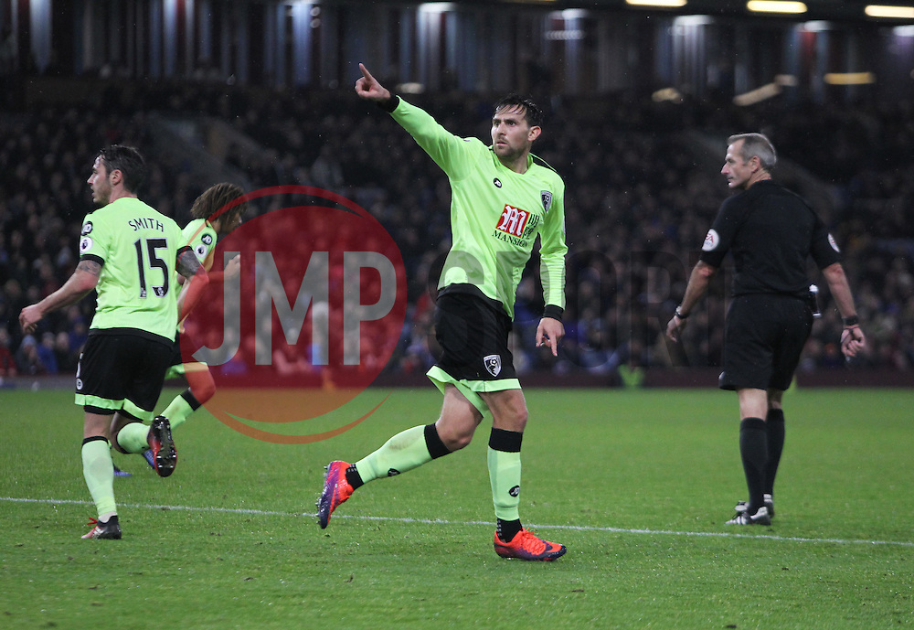 Charlie Daniels of Bournemouth celebrates scoring his sides second goal - Mandatory by-line: Jack Phillips/JMP - 10/12/2016 - FOOTBALL - Turf Moor - Burnley, England - Burnley v AFC Bournemouth - Premier League