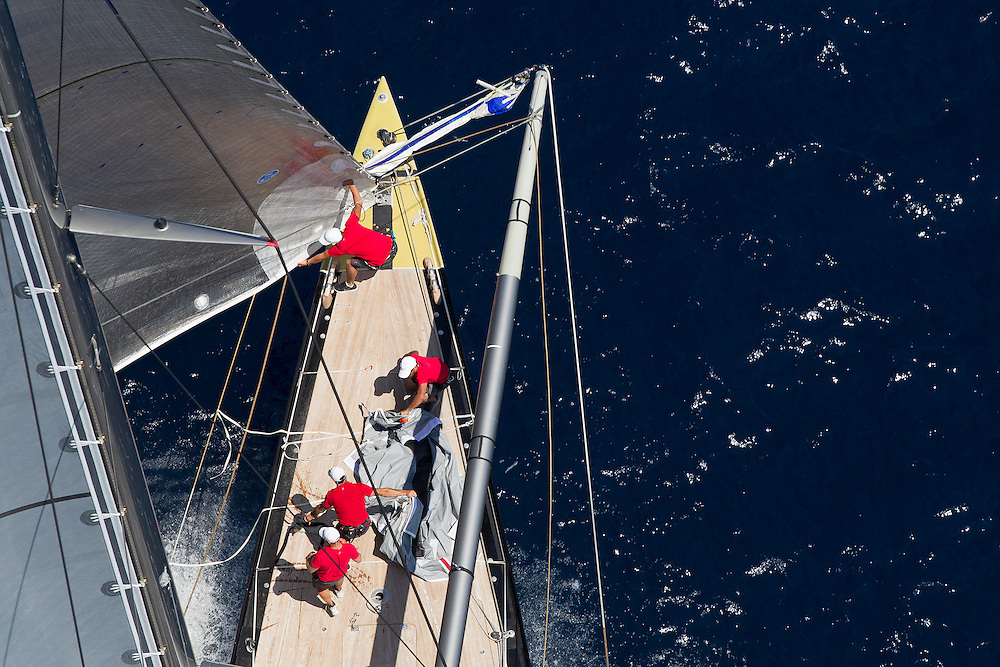 SPAIN, Palma. 21st June 2013. Superyacht Cup. J Class. Race three, coastal race. Rainbow.