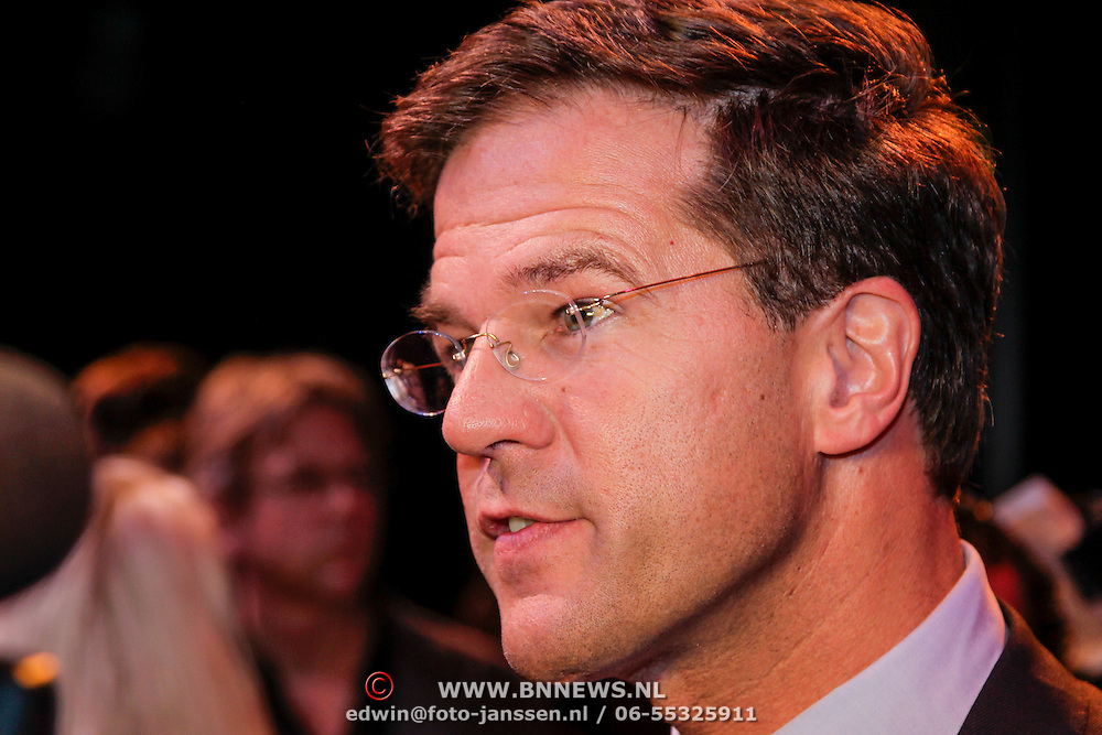 NLD/Amsterdam/20120923- Premiere musical De Jantjes, Mark Rutte