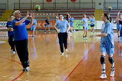Misa Marincek and Tamara Mavsar at practice of Slovenian Handball Women National Team, on June 3, 2009, in Arena Kodeljevo, Ljubljana, Slovenia. (Photo by Vid Ponikvar / Sportida)