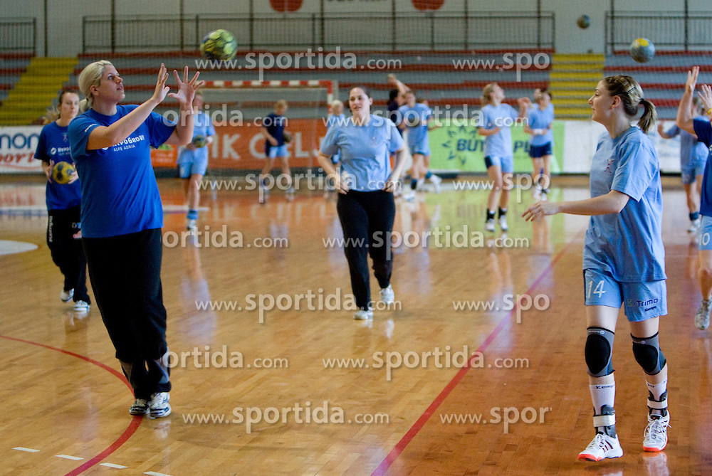 Misa Marincek and Tamara Mavsar at practice of Slovenian Handball Women National Team, on June 3, 2009, in Arena Kodeljevo, Ljubljana, Slovenia. (Photo by Vid Ponikvar / Sportida)