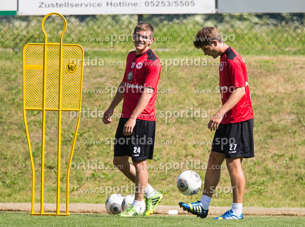 17.07.2013, Sportzentrum, Laengenfeld, AUT, Eintracht Frankfurt Trainingslager, im Bild Sebastian Jung und Pirmin Schwegler // during the Trainings Camp of German Bundesliga Club Eintracht Frankfurt at the Sportzentrum, Laengenfeld, Austria on 2013/07/17. EXPA Pictures © 2013, PhotoCredit: EXPA/ Johann Groder
