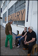 ROBIN KLASSNIK; ELIZABETH PRICE; BRIAN CATLING, Matt's Gallery 35th birthday fundraising supper.  42-44 Copperfield Road, London E3 4RR. 12 June 2014.