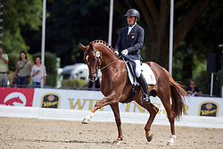 Garcia Mena Jose Antonio (ESP) - Doctor de Encinasola<br /> FEI World Dressage Championships for Young Horses<br /> Internationales Dressur- und Springfestival - Verden 2014<br /> © Dirk Caremans