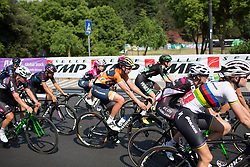 Nikki Brammeier of Boels Dolmans reaches the finish line of Stage 7 of the Giro Rosa - a 141.9 km road race, between Isernia and Baronissi on July 6, 2017, in Isernia, Italy. (Photo by Balint Hamvas/Velofocus.com)