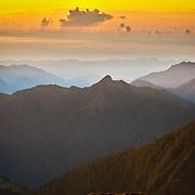 Sunrise on Hike to Yushan South Peak