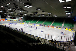 Arena Tivoli at ice-hockey friendly match between National teams of Slovenia and Denmark, on April 14, 2010, in Tivoli hall, Ljubljana, Slovenia. Denmark defeated Slovenia 5-3. (Photo by Vid Ponikvar / Sportida)