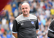 Portsmouth Manager Paul Cook during the Sky Bet League 2 match between Portsmouth and Northampton Town at Fratton Park, Portsmouth, England on 7 May 2016. Photo by Adam Rivers.
