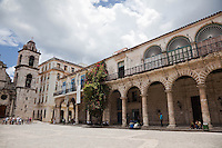 Stunning colonial architecture in Cathedral Square, Old Havana, Cuba.