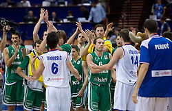 Samo Udrih (6) of Slovenia after the EuroBasket 2009 Semi-final match between Slovenia and Serbia, on September 19, 2009, in Arena Spodek, Katowice, Poland. Serbia won after overtime 96:92.  (Photo by Vid Ponikvar / Sportida)