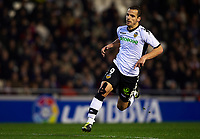VALENCIA, SPAIN - FEBRUARY 06: Roberto Soldado of Valencia in action during the La Liga match between Valencia CF and Hercules CF at the Mestalla Stadium on February 06, 2011 in Valencia, Spain. Valencia won 2-0. (Photo by Manuel Queimadelos/SSP / DPPI)