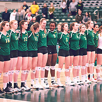 Women's Volleyball home game on Sat Jan 19 at Centre for Kinesiology, Health & Sport. Credit: Arthur Ward/Arthur Images