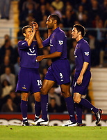 FREDDIE KANOUTE TOTTENAM HOTSPUR CELEBRATES SCORING 1ST GOAL<br />