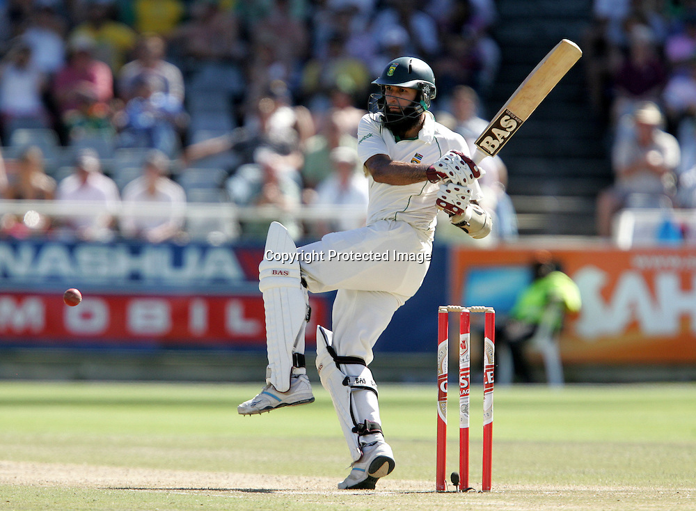 Hashim Amla  during the 3rd day of the third test match between South Africa and England held at Newlands Cricket Ground in Cape Town on the 5th January 2010.Photo by: Ron Gaunt/ SPORTZPICS