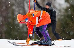 Worker during the 1st Run of 10th Men's Slalom - Pokal Vitranc 2013 of FIS Alpine Ski World Cup 2012/2013, on March 10, 2013 in Vitranc, Kranjska Gora, Slovenia. (Photo By Vid Ponikvar / Sportida.com)