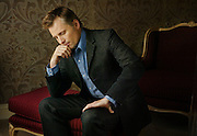 Actor Viggo Mortensen, star of the movie Hidalgo, poses in western wear at the Four Seasons Hotel in Atlanta.