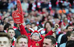 Bristol city fan inside the Wembley Stadium - Photo mandatory by-line: Alex James/JMP - Mobile: 07966 386802 - 22/03/2015 - SPORT - Football - London - Wembley Stadium - Bristol City v Walsall - Johnstone Paint Trophy Final