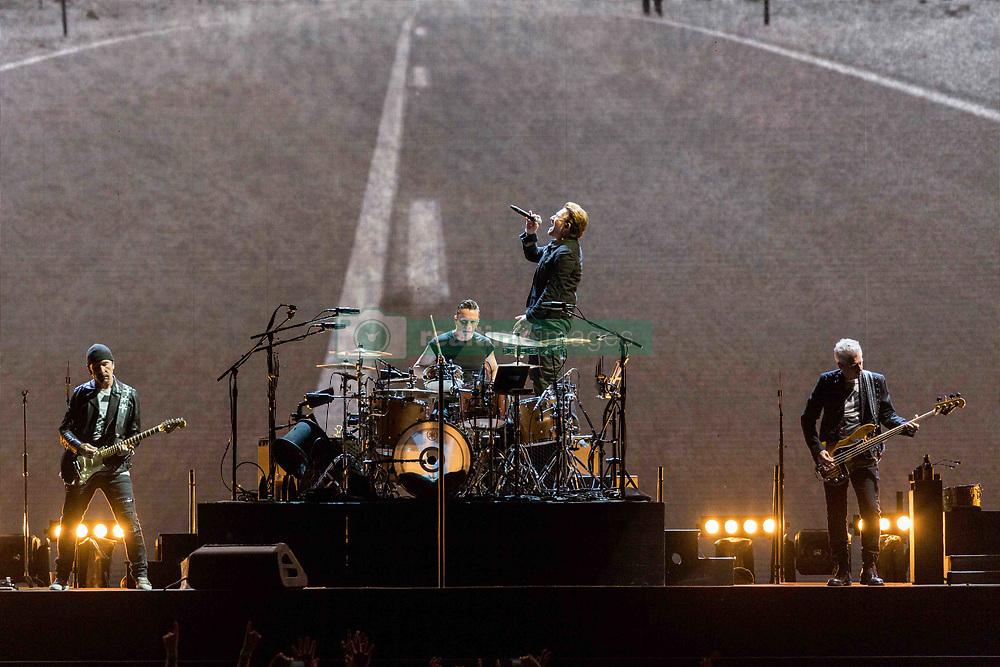 June 4, 2017 - Chicago, Illinois, U.S - THE EDGE, LARRY MULLEN JR., BONO and ADAM CLAYTON of U2 during 30th Anniversary of the The Joshua Tree Tour at Soldier Field in Chicago, Illinois (Credit Image: © Daniel DeSlover via ZUMA Wire)