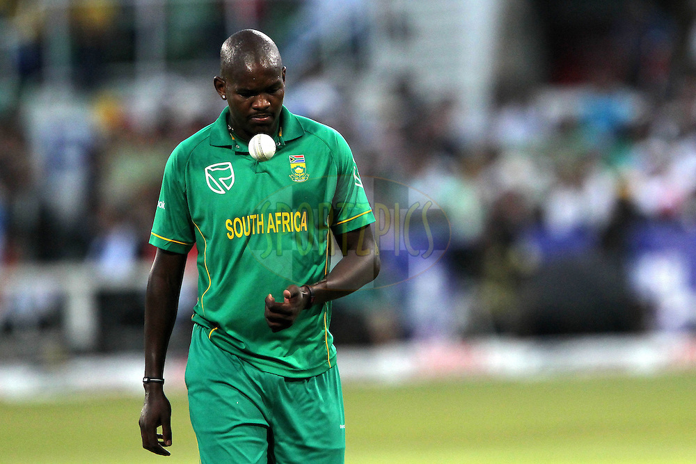 Lonwabo Tsotsobe of South Africa  during the 1st ODI between South Africa and India held at Kingsmead Stadium in Durban, South AFrica on the 12th January 2011 )..Photo by Ron Gaunt/BCCI/SPORTZPICS