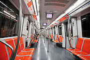 Rome, Italy Interior of a metro train