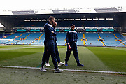 Bolton players inspecting the pitch during the EFL Sky Bet Championship match between Leeds United and Bolton Wanderers at Elland Road, Leeds, England on 30 March 2018. Picture by Paul Thompson.