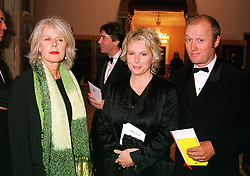 Left to right, designer MISS BETTY JACKSON, comedian JENNIFER SAUNDERS<br />  and her husband actor ADRIAN EDMONDSON, at a dinner in London on 23rd May 2000.OEL 110