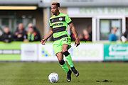 Forest Green Rovers Junior Mondal(25) runs forward during the EFL Sky Bet League 2 match between Forest Green Rovers and Exeter City at the New Lawn, Forest Green, United Kingdom on 4 May 2019.