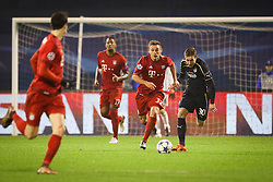 Joshua Kimmich #32 of FC Bayern Munchen vs Marko Rog #30 of GNK Dinamo Zagreb during football match between GNK Dinamo Zagreb and Bayern München in Group F of Group Stage of UEFA Champions League 2015/16, on December 9, 2015 in Stadium Maksimir, Zagreb, Croatia. Photo by Ziga Zupan / Sportida