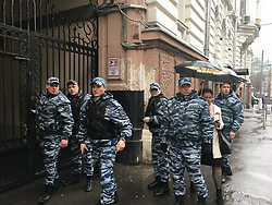 April 27, 2017 - Moscow, Russia - April 27, 2017. - Search in the office of Mikhail Khodorkovsky's Open Russia organization in Moscow, Russia. Prosecutor the General's Office announced a ban of Open Russia as an unwanted organization in Russia and today investigators, supported by a group of policemen came to the office for a search. Open Russia is an opposition organization sponsored by Mikhail Khodorkovsky and aiming support anti-Putin opposition in electoral and protest actions. Photo from openrussia.org (Credit Image: © Russian Look via ZUMA Wire)