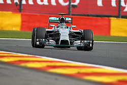 22.08.2014, Circuit de Spa, Francorchamps, BEL, FIA, Formel 1, Grand Prix von Belgien, Training, im Bild Nico Rosberg (Mercedes AMG Petronas Formula One Team) // during the Practice of Belgian Formula One Grand Prix at the Circuit de Spa in Francorchamps, Belgium on 2014/08/22. EXPA Pictures &copy; 2014, PhotoCredit: EXPA/ Eibner-Pressefoto/ Bermel<br /> <br /> *****ATTENTION - OUT of GER*****